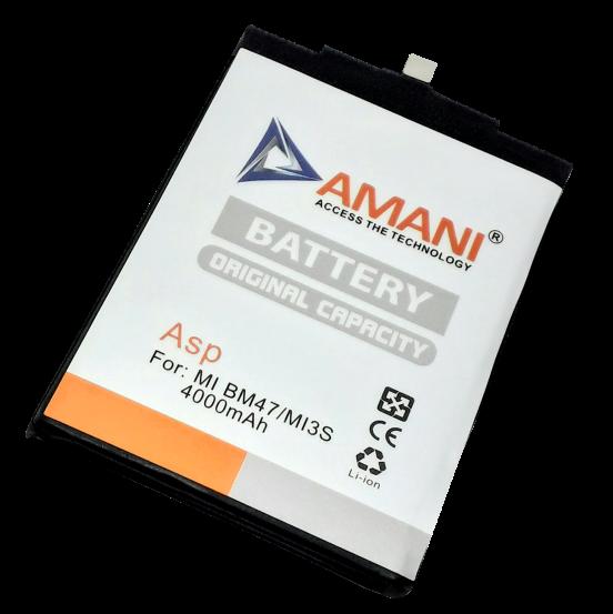 AMANI Launches 4000mAh Mobile Battery-Mi BM 47MI3S for MI Handsets