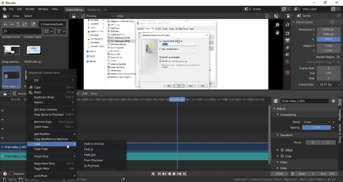 Blender Video editing -min