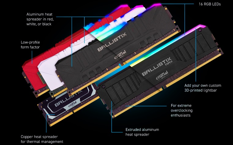 Crucial Ballistix and other Crucial Ballistix MAX. (2)