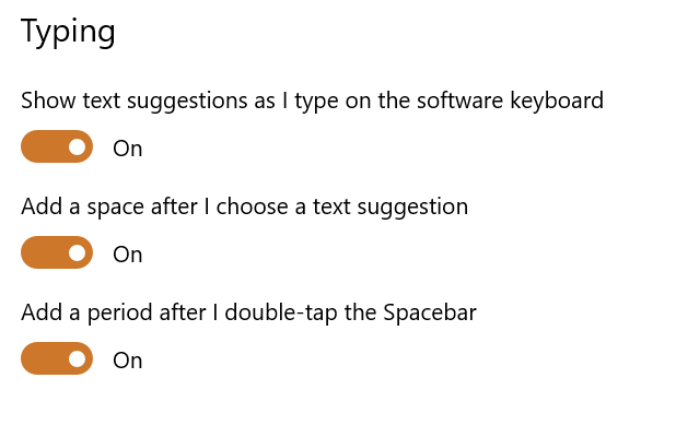 Get typing suggestions on Windows 10 40
