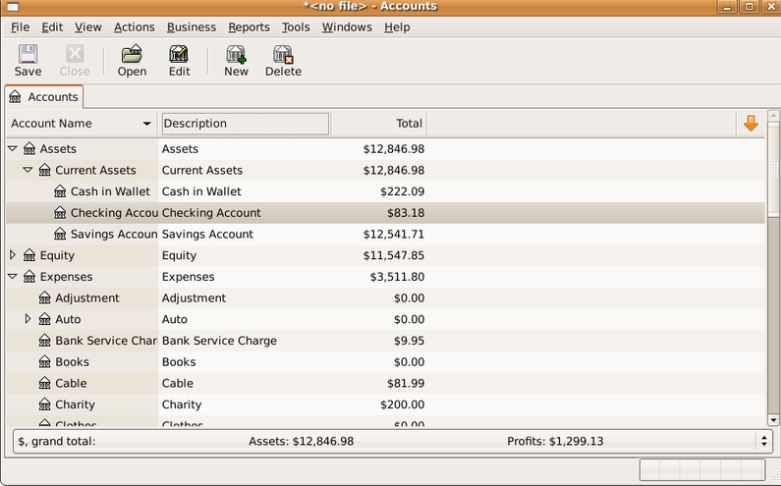 GnuCash- best accounting software opensource