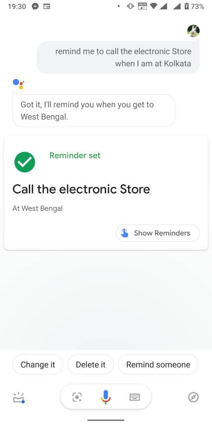 Location-based reminders