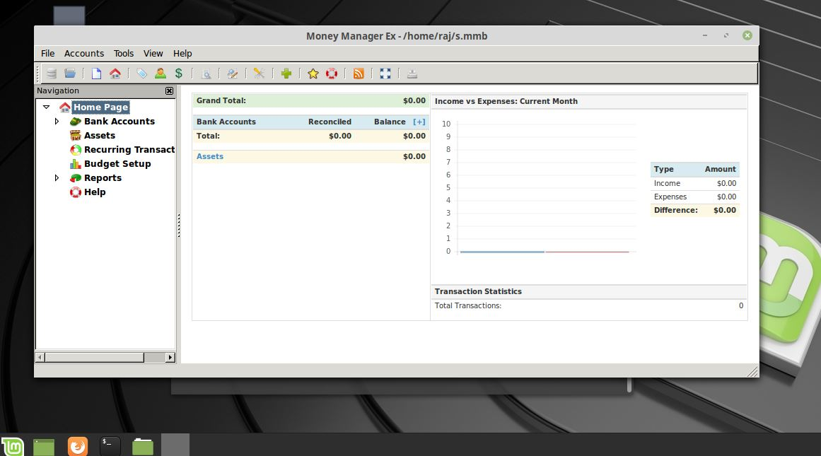 Money Manager X install on Linux Mint