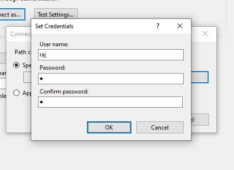 Set windows 10 username and password