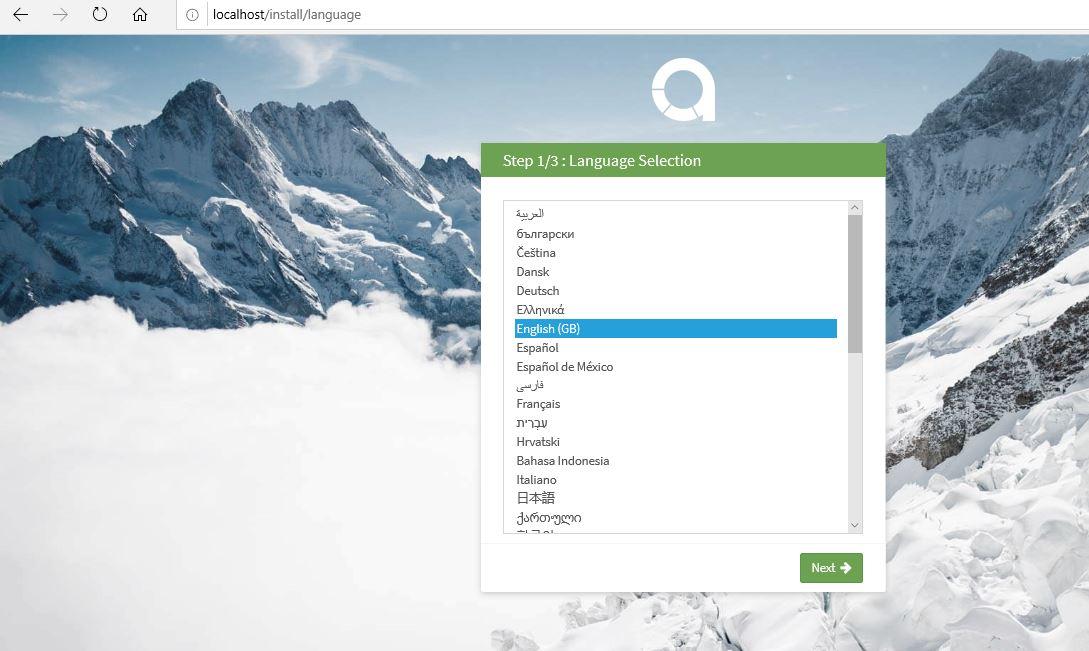 Setup Akaunting free accounting software on Windows 10