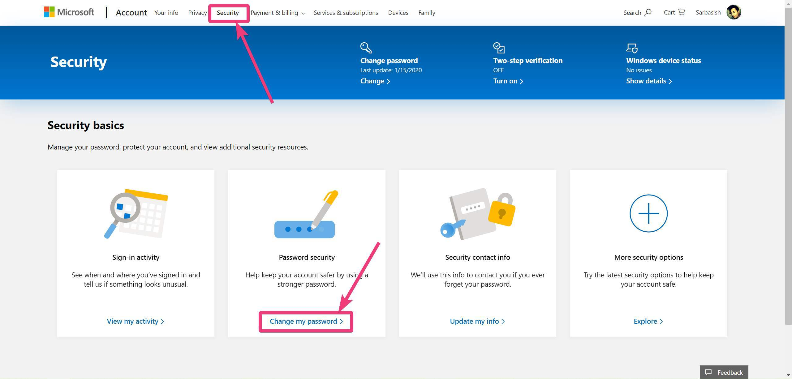 Postavljanje isteka lozinke na Microsoftovom računu