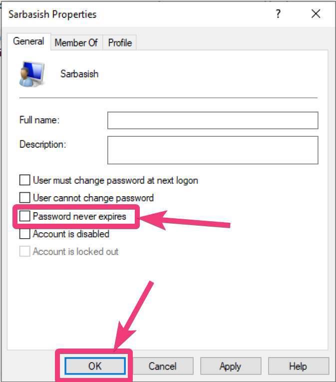 Lozinka nikad ne ističe