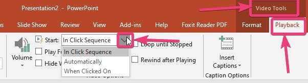 Play control PowerPoint Slide Videos