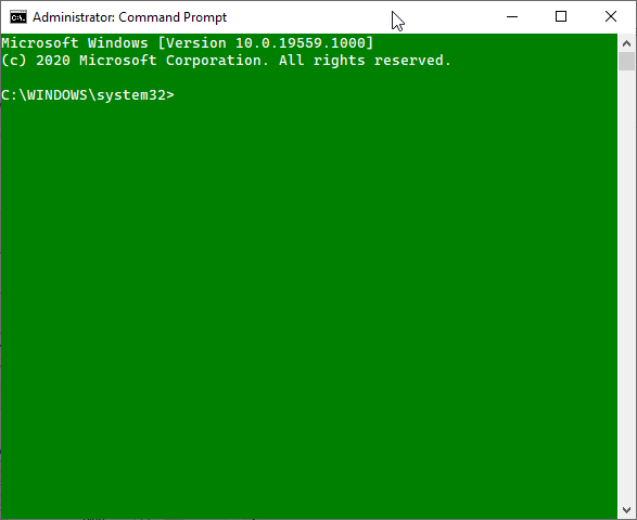 Change Windows 10 Command prompt color