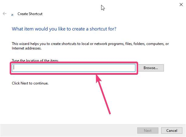 Create shortcut to power options on Windows 10 50