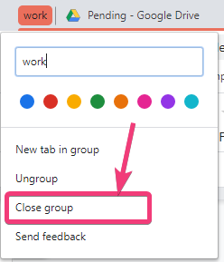 Enable tab grouping on Chrome 80 80