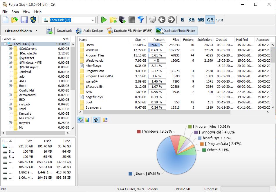 Folder Size for Windows 10