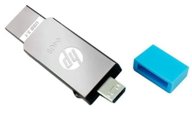 HP x302m 128GB USB 3.1 OTG Pendrive Single