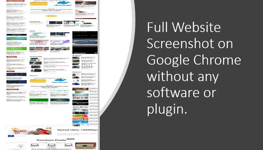 How to take full website screenshot on Google Chrome without any app or tool