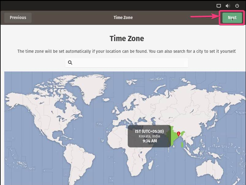 Pop!_OS Time zone