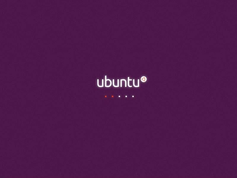 regular Ubuntu boot screen