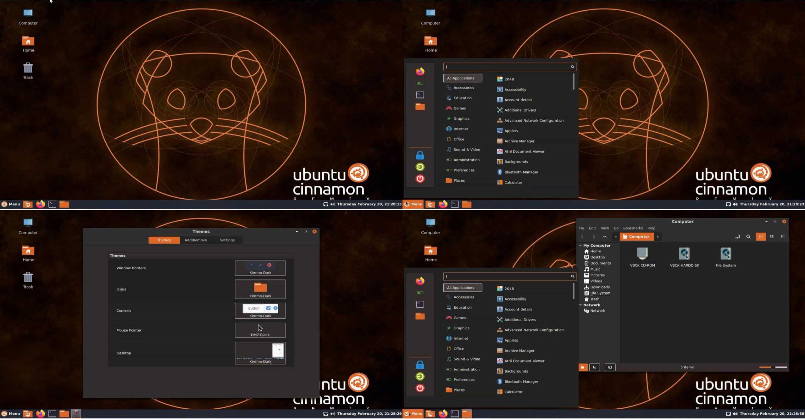 Ubuntu Cinnamon Remix interface screenshot
