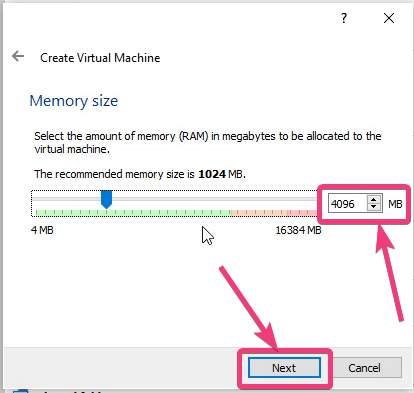 Select the amount of Memory