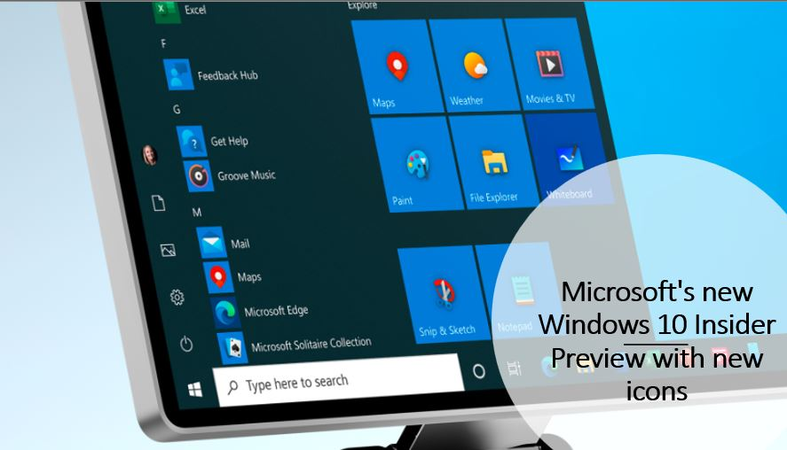 Microsoft's new Windows 10 Insider Preview with new icons
