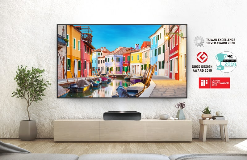 Optoma announces its P1 4K UHD ultra-short-throw laser projector in India-min