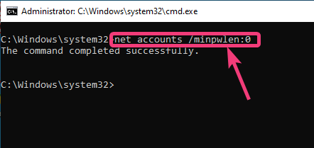 Set minimum password length for Windows 10