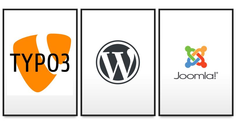Typo3, WordPress and Joomla quick comparision