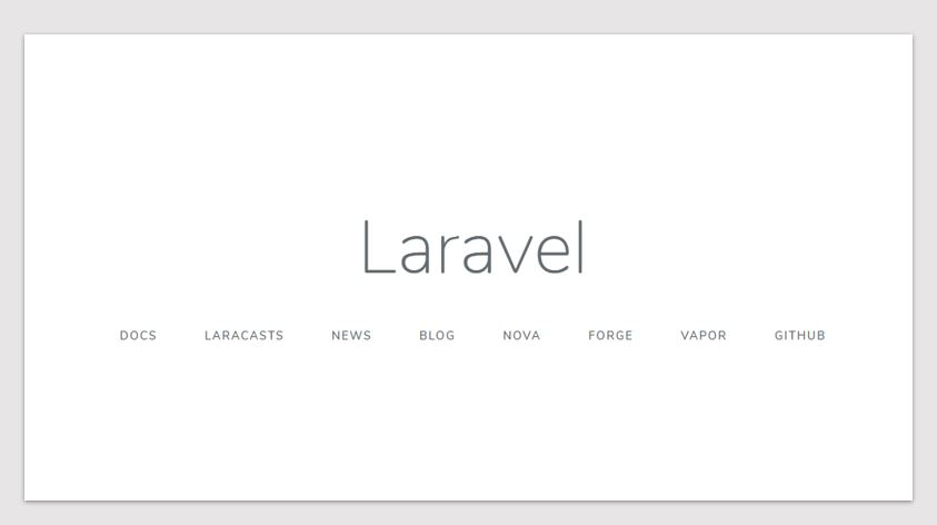Use Composer to install Laravel web framework