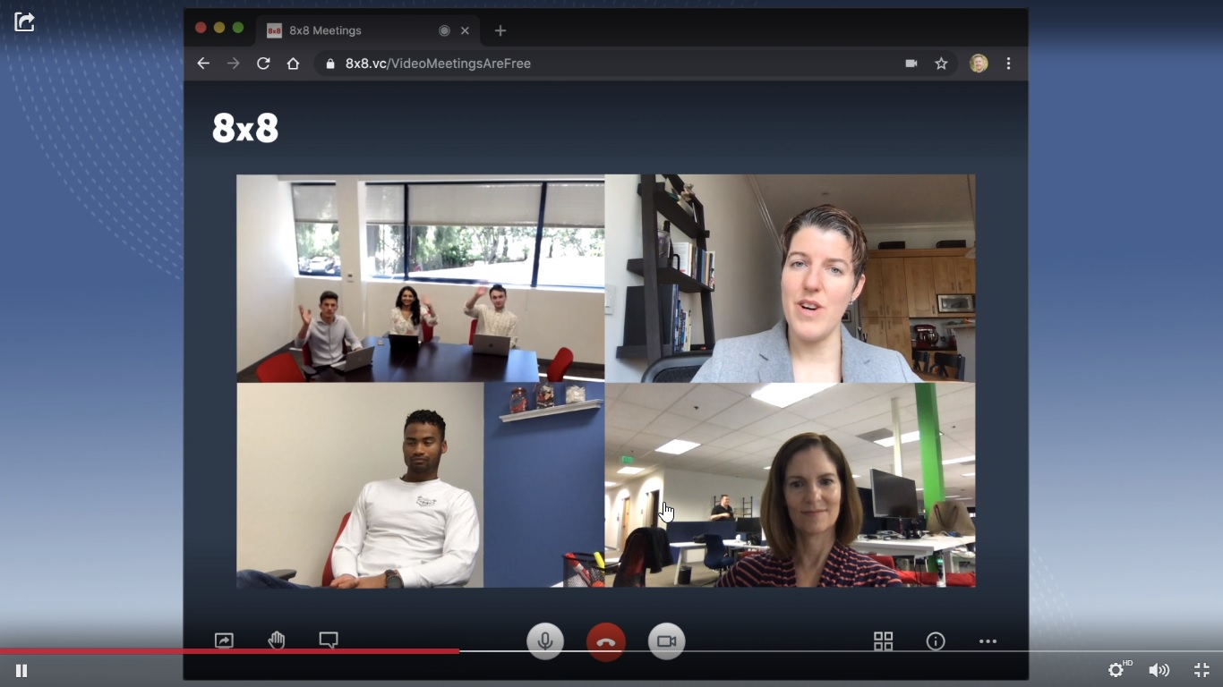 8×8 free unlimited video conferencing solution