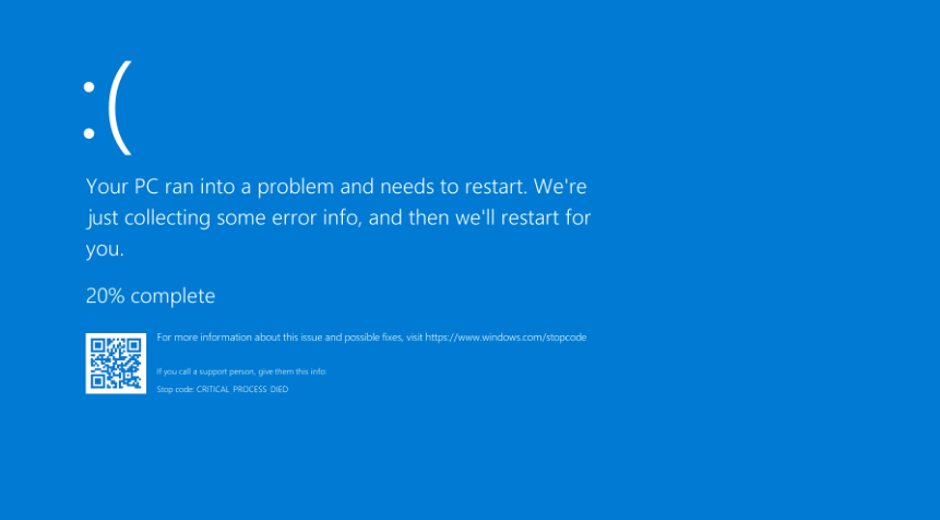 BSOD-Blue screen of death