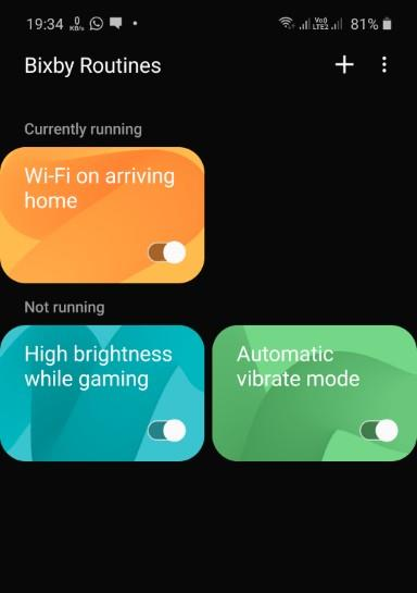 additional Bixby Routines