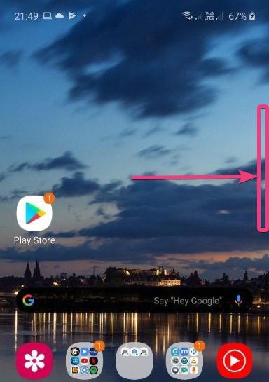 Edge Panel on your Samsung handset