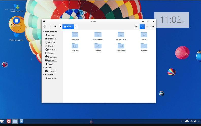Feren OS Linux Mint like UI