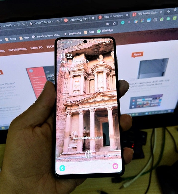 Galaxy A71 screen