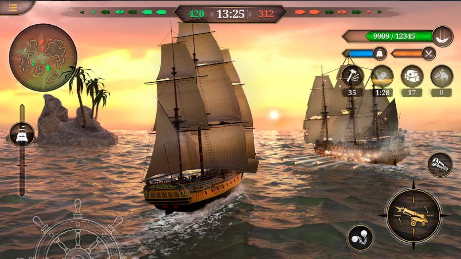 King Of Sails Ship Battle for Android smartphone