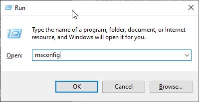 Open Windows 10 RUN box