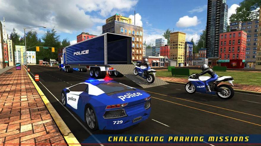 Police Plane Transporter Game
