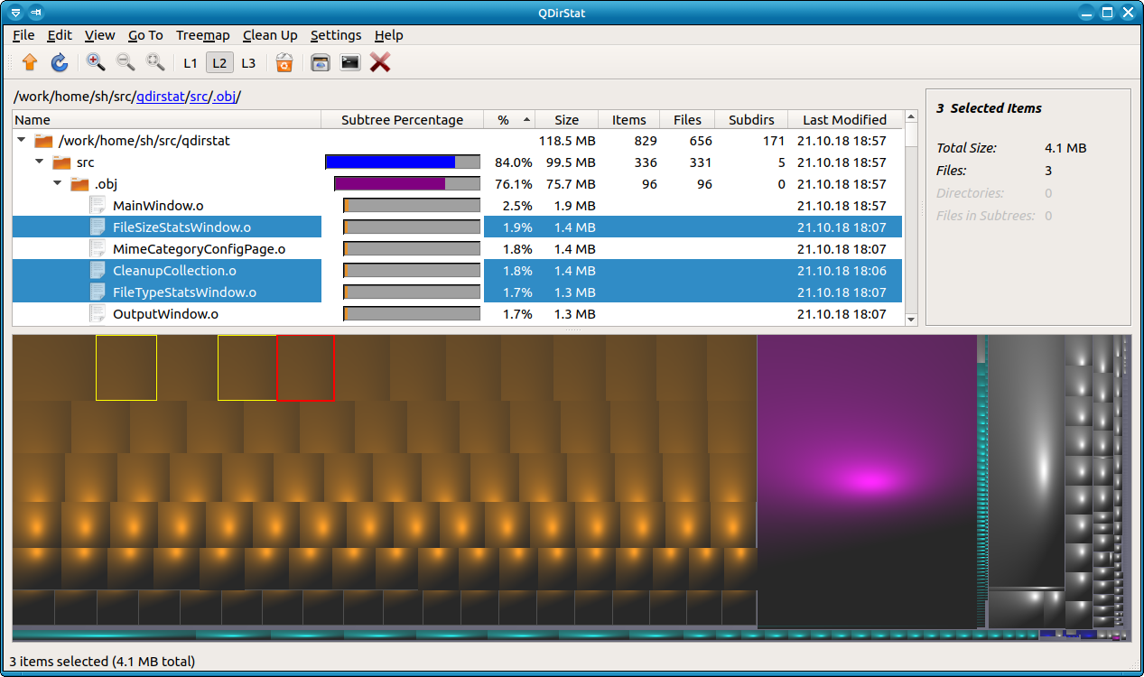 QDirStat Disk Analyzer for Linux