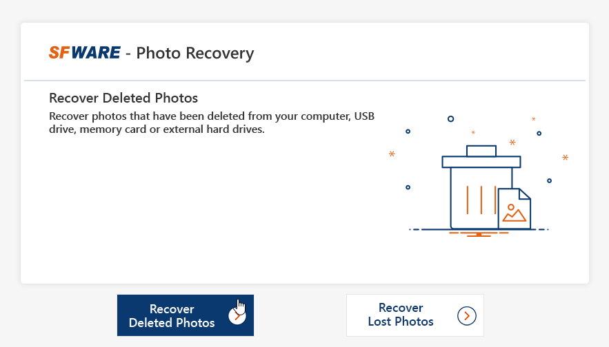 SFWARE deleted files recovery