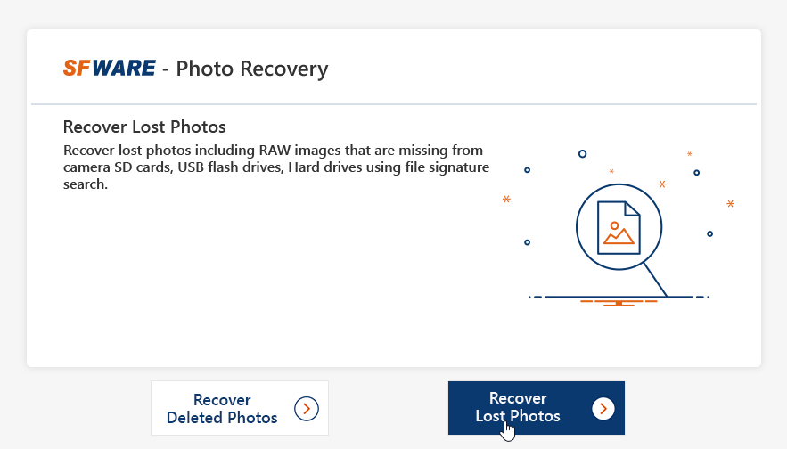 SFWARE software photo recovery