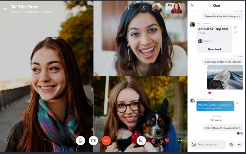 Skype- free video chat and video conference