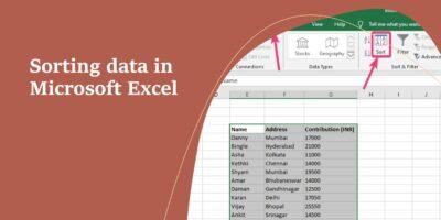 Sorting data in Microsoft Excel min