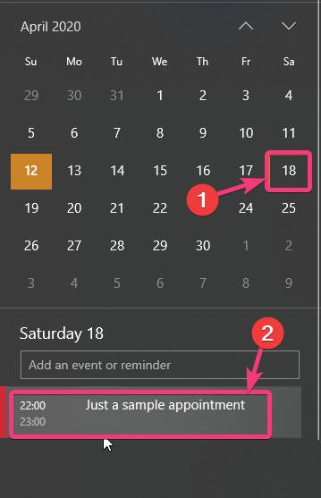 Delete or modify the appointment within the Calendar app