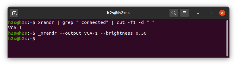 Adjust Ubuntu Linux brightness level using xrandr