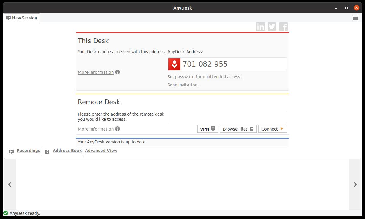 AnyDesk on Ubuntu 20.04