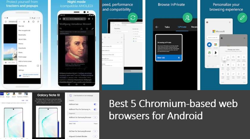 Best Chromium-based web browsers for Android
