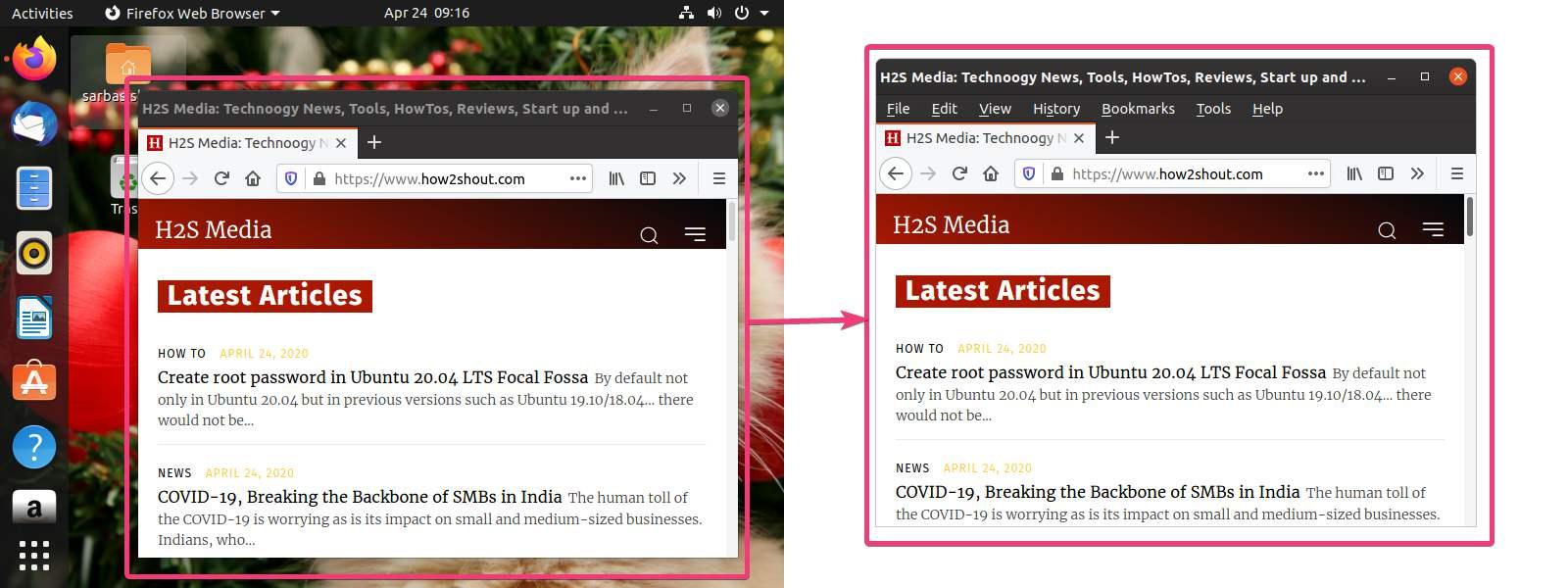 Capture screenshots of an active Ubuntu window