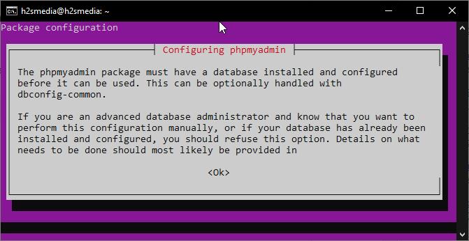 Configuring PHPmyadmin