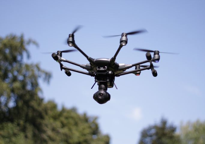 Drone helping in Monitoring