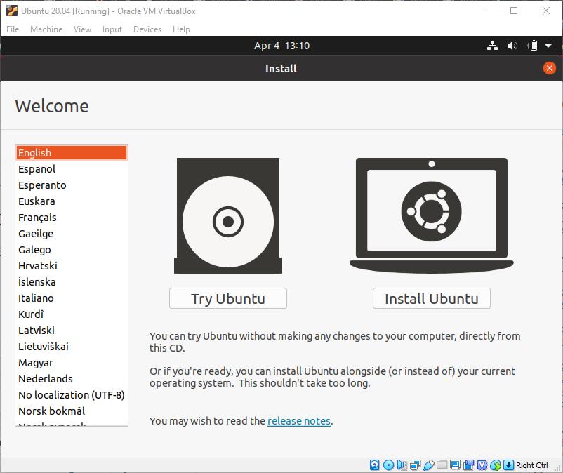 Install Ubuntu 20.04 Focal Fossa