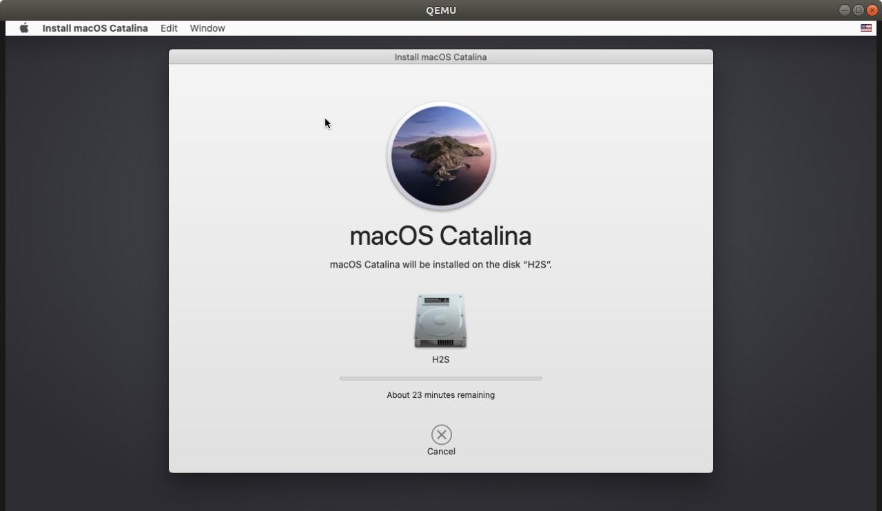 Installing macOS on Linux Qemu VM